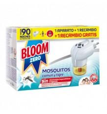 Bloom Zero Mosquitos Común y Tigre Aparato + 2 Recambios