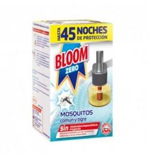 Bloom Zero Mosquitos Común y Tigre Recambio Liquido