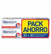 Steradent Cleaner Pilules 30 + 30 Pilules