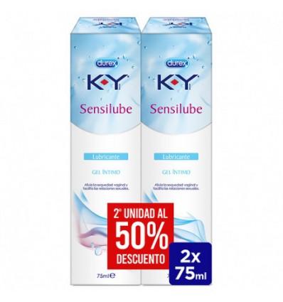Durex Sensilube K-Y gel íntimo lubrificante Duplo 2 x 75ml
