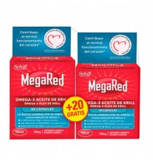 Megared Omega 3 Aceite de Krill 60 capsulas + 20 Capsulas