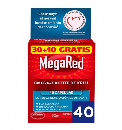 Megared Omega 3 Aceite de Krill 30 capsulas + 10 Capsulas