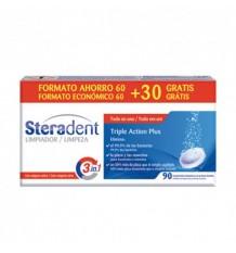 Steradent tripla acção 60 + 30 comprimidos