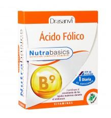 Folic Acid 30 Capsules Nutrabasic Drasanvi