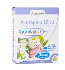 Olive Aubépine Ail 500Mg 60 Perles Nutrabasics Drasanvi