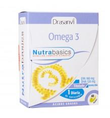 Omega 3 1000mg 48 pérolas Nutrabasicos Drasanvi