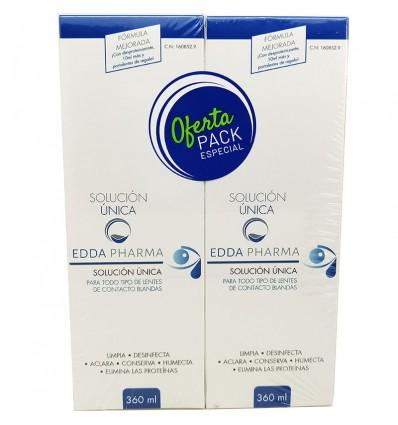Edda Pharma Solucion Unica 360 ml + 360ml Duplo Promocion