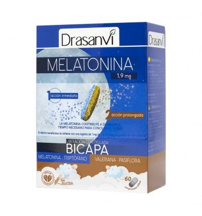 Melatonina 1, 9 mg bicamada 60 Comprimidos Drasanvi