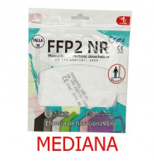 Mascarilla FFP2 NR Promask Blanco 1 Unidad Talla Mediana