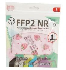 Mascarilla FFP2 NR Promask Fresas 1 Unidad Talla Mediana