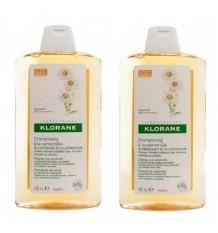 Shampooing à la camomille Klorane 400ml + 400ml Promotion Duplo