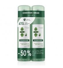 Shampooing sec Klorane Ortie 150 ml + 150 ml