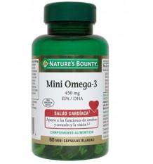 Natures Bounty Mini Omega-3 450 mg EPA DHA 60 Mini capsulas