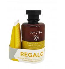 Apivita Shampoo Täglichen Gebrauch Kamillenhonig 250 ml + Conditioner 50 ml