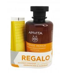 Apivita Shampooing Nourrissant Miel d'Olive 250 ml + Revitalisant 50 ml