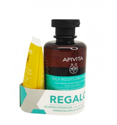 Apivita Champu Equilbrante Raiz Ortiga Propoleo 250 ml + Acondicionador 50ml