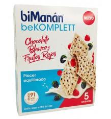 Bimanan Bekomplett Barrita Chocolate Blanco Con Frutos Rojos 5 Unidades