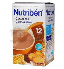 Nutriben Cereales Papilla Cacao con Galletas Maria 600 g