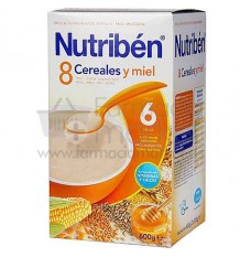 nutriben 8 cereales miel 600 gramos