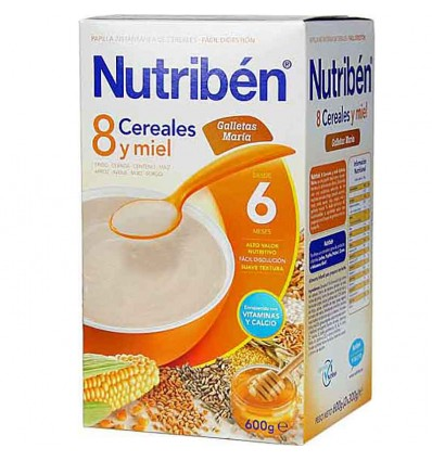 nutriben 8 cereales miel galleta maria