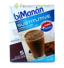 Bimanan Sustitutive Batidos chocolate 5 unidades