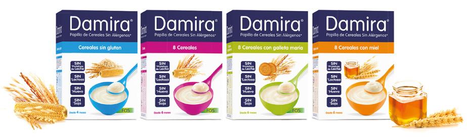 Damira Cereales, Tipos y variedades