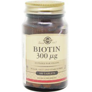 solgar biotina para el pelo