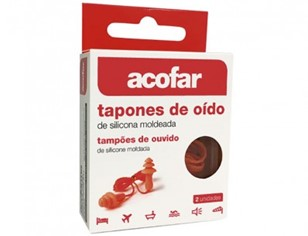 Acofar Tapones Oido Silicona Cordon