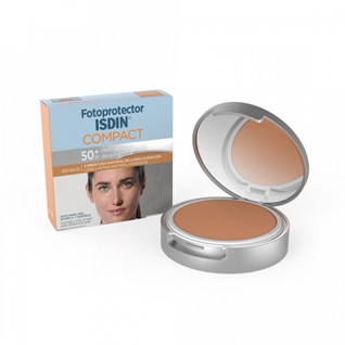 Fotoprotector Isdin 50 Compact Bronce 10 g