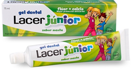 Lacer Junior Gel Menta 75 ml