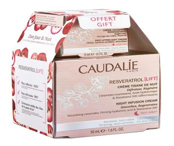 Caudalie Resveratrol Lift Tisana Noche Crema 50 ml Pack Cachemir 15 ml