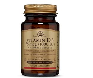 Solgar Vitamina D3 1000UI 100 Comprimidos