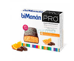 Bimanan Befit Barrita Chocolate Naranja 6 Unidades