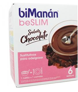 Bimanan Beslim Natillas Chocolate 6 unidades