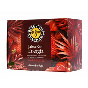 Black Bee Jalea Real Energia Guarana 20 Ampollas