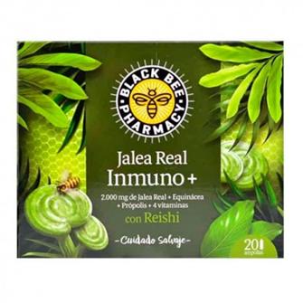 Black Bee Jalea Real Inmuno + Reishi 20 Ampollas