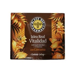 Black Bee Jalea Real Vitalidad Cúrcuma 20 Ampollas