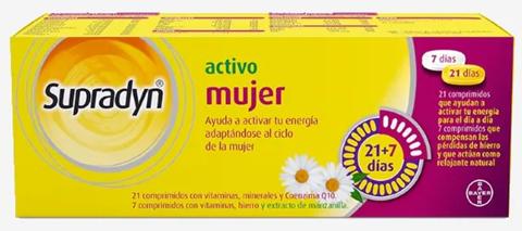 Supradyn Mujer Activo 21+7 comprimidos