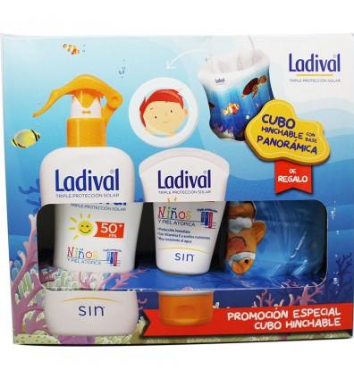 Ladival Niños 50 Spray 200 ml + Crema 50 ml Cubo Hinchable