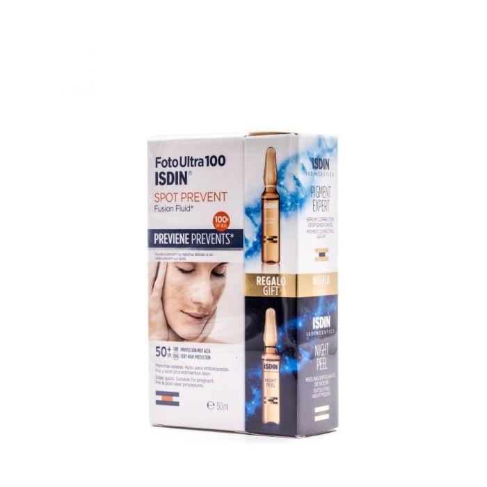 Fotoultra Isdin 100 Spot Prevent Fusion Fluid 50 ml + 2 Ampollas Isdinceutics