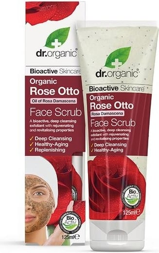 Dr Organic Exfoliante Facial Rose Otto 125 ml