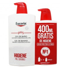 Eucerin Ph5 Gel de baño 1000 ml Regalo 400 ml