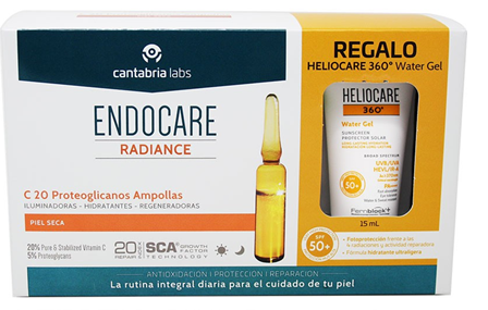 Endocare Radiance C 20 Proteoglicanos 30 Ampollas + Heliocare Water gel 15 ml