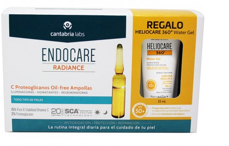Endocare Radiance C Proteoglicanos Oil Free 30 Ampollas + Heliocare Water gel 15 ml
