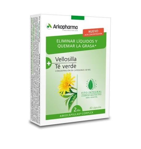 Arkocapsulas Complex Eliminar Liquidos Quemar Grasa Vellosilla Te Verde 40 Capsulas
