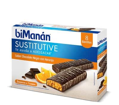 Bimanan Beslim Barritas Chocolate Negro con Naranja 8 unidades