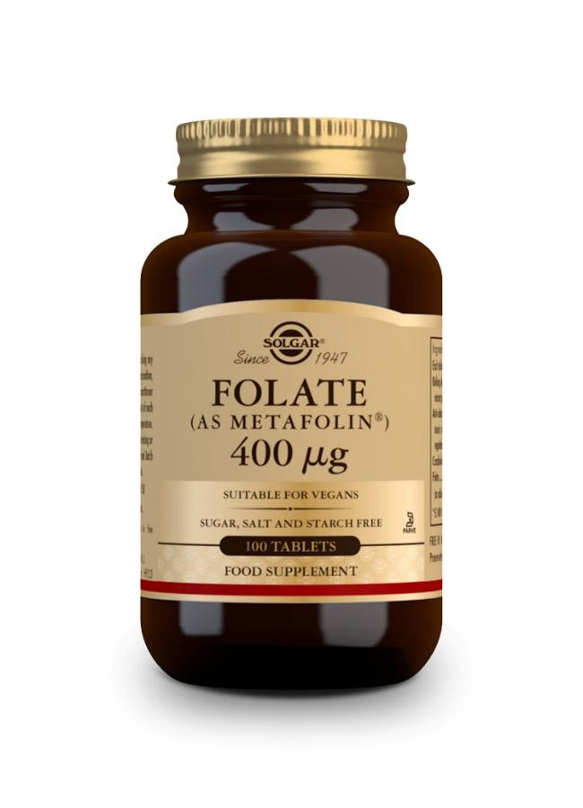 Solgar Folato Metafolin 400mcg 100 Comprimidos