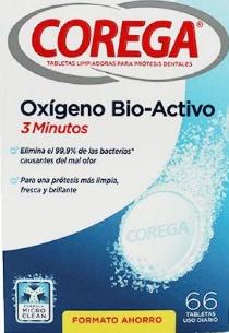 Corega Oxígeno Biactivo 66 comprimidos Formato Ahorro