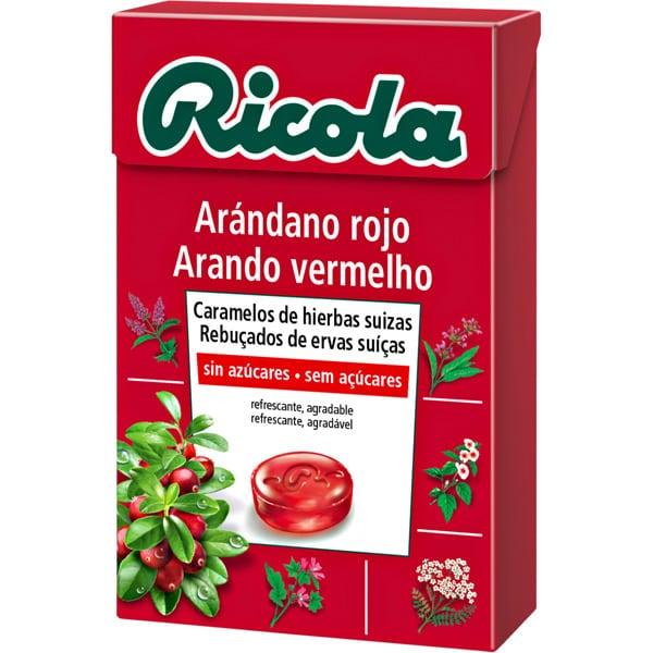 Ricola Caramelos Arandano Rojo Caja 50g