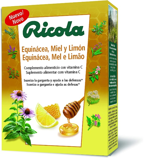 Ricola Caramelos Equinacea Miel Limon Caja 50g